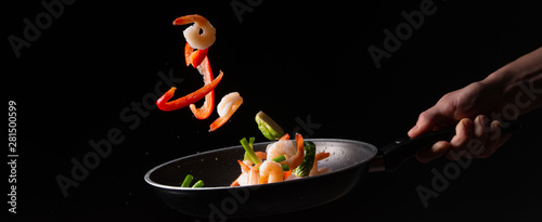 close-up, Seafood, chef coo...
