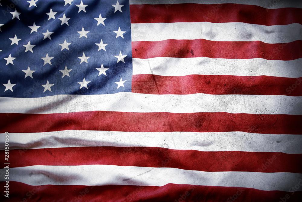 Fototapety, obrazy: Grunge American flag