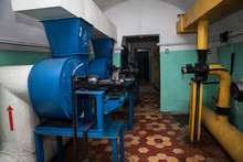 Air Fans And Filters In The Uderground Anti-nuclear Bunker From The Cold War