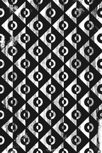 Grunge Abstract Geometric Pattern. Vertical Black And White Backdrop.
