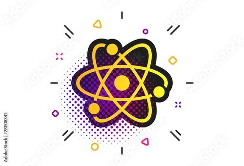 Leinwand Poster Atom sign icon