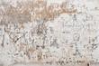 Close up of 18th century graffiti of sailboats on wall