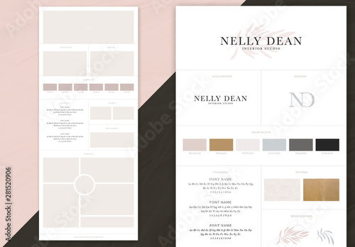 Brand Board Template   Simple Brand Board Layout Buy This Stock Template And
