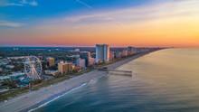 Downtown Myrtle Beach South Carolina SC Drone Skyline Aerial