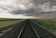 Storm Clouds Over Rail Track P...