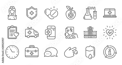 Photo  Medical line icons