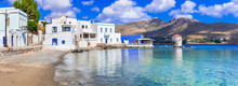 Beautiful Small Islands Of Greece - Leros In Dodecanese. View Of Agia Marina Village