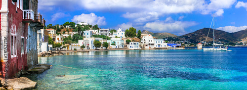 Obraz na plátně  Traditional authentic Greece - beautiful island Leros in Dodecanese