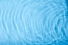 Concentric Waves On Blue Water...