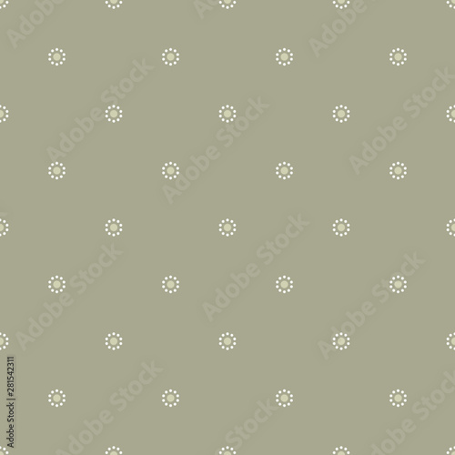 Seamless geometrical pattern with stylized daisy motifs Fototapeta