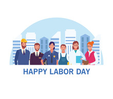 Happy Labor Day Card, USA Holi...