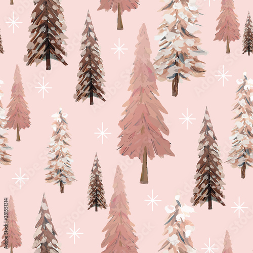 musujacy-zimowy-las-bez-szwu-z-platki-sniegu-i-drzew-w-odcieniach-rozu-kosci-sloniowej-i-brazu-vintage-naturalny-wyglad-idealny-na-kartki-swiateczne-i-zimowe-przedmioty-papierowe-i-tekstylia