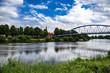 canvas print picture - Wesertor-Brücke Nienburg