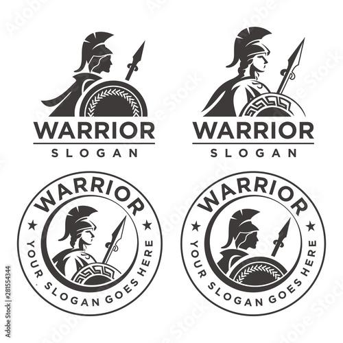 Fotomural Athena Warrior Emblem logo