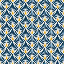 Japanese Diamond Fan Seamless Pattern