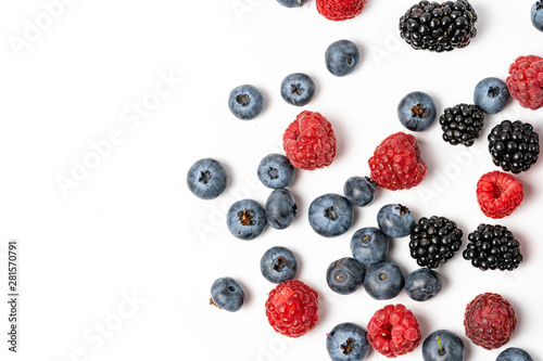 Foto Macro view of different mix with ripe fruits