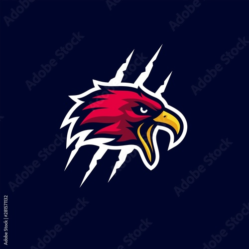 Fotografie, Tablou  Eagle Bold Sporty Logo Template