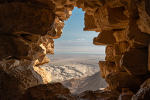 View From Masada Ruins Over Th...