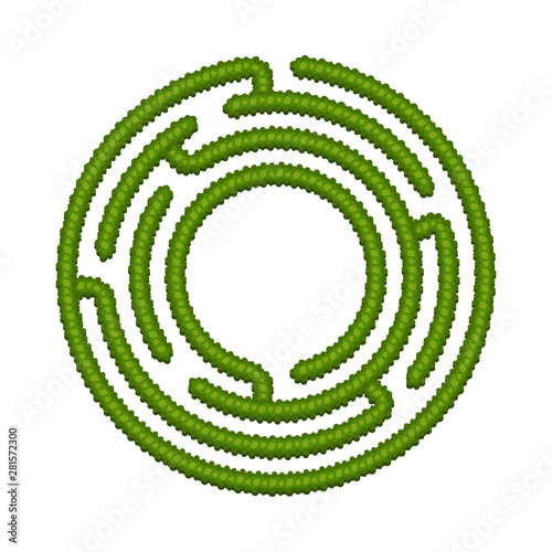 Education logic game bush labyrinth for kids  Find right way