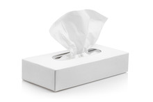 White Tissue Box, Isolated On ...