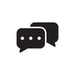 canvas print picture - bubble speech icon vector design template