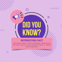 Did You Know With Purple Circle And Megaphone