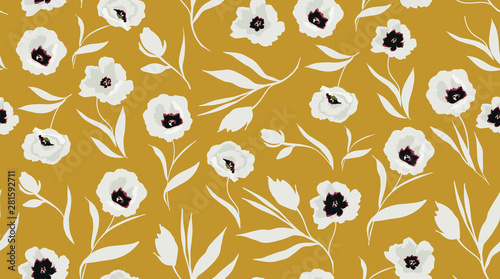 Tablou Canvas trendy seamless floral pattern