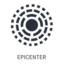 Epicenter. Vector Icon On White Background.