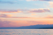 sky sunset sea. Beautiful clouds, soft colors. Natural background