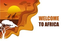 Welcome To Africa Poster, Vect...