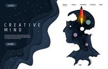 Creative Mind Vector Website L...