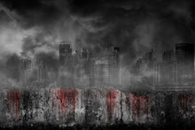 Bloody Background Scary On Dam...