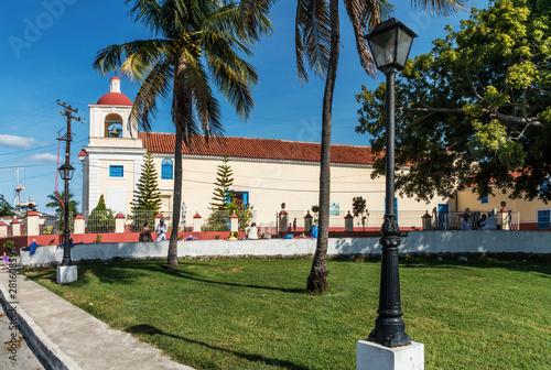 Kuba, Havanna-Regla;  Die Kirche   Iglesia de Nuestra Senora de Regla   mit der Schutzpatronin von Havanna Canvas Print