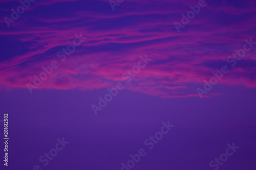 Poster Violet Cloudy abstract background. Sunset colors