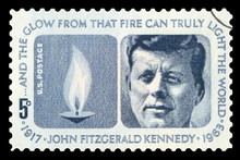UNITED STATES OF AMERICA - CIRCA 1963: A Used Postage Stamp From The USA, Depicting A Portrait Of Former President Of The United States, John F. Kennedy, Circa 1963.