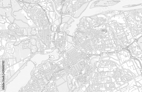 Ottawa, Ontario, Canada, bright outlined vector map