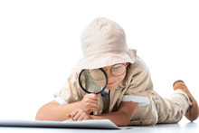 Focused Explorer Child In Hat ...