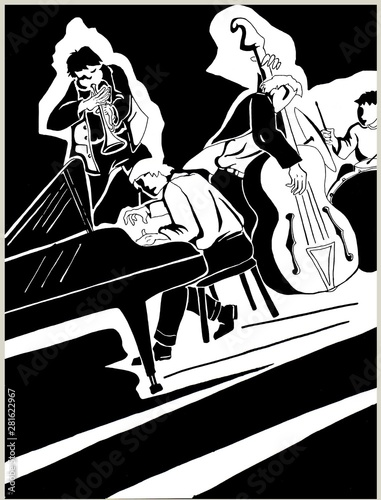 jazz quartet Wallpaper Mural