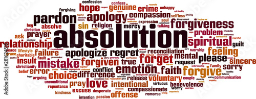 Photo Absolution word cloud