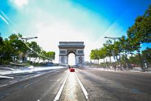 Champs-Elysees And Arc-de-Trio...