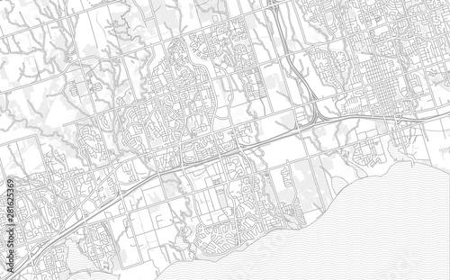 Платно  Ajax, Ontario, Canada, bright outlined vector map