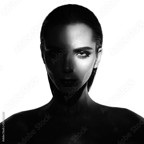 Keuken foto achterwand womenART Surrealistic young lady with shadow on her body