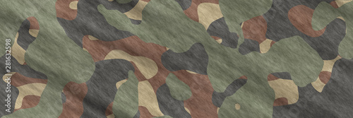 Seamless illustrations. Textile camouflage- pattern abstract Canvas Print