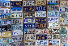Discontinued License Plates From Around The Country USA On Display