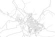Comayagua, Comayagua, Honduras, bright outlined vector map