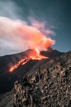 Spectacular Eruption Of The Volcano Etna