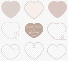 Pearl Hearts For Wedding Decor...