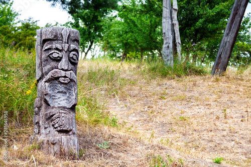 Obraz Wooden idol of Slavic god - fototapety do salonu