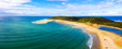 Leinwanddruck Bild - Panorama of Double Island point on the Queensland coast