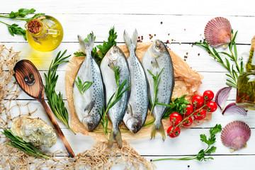 Raw fish with lemon, salt a...